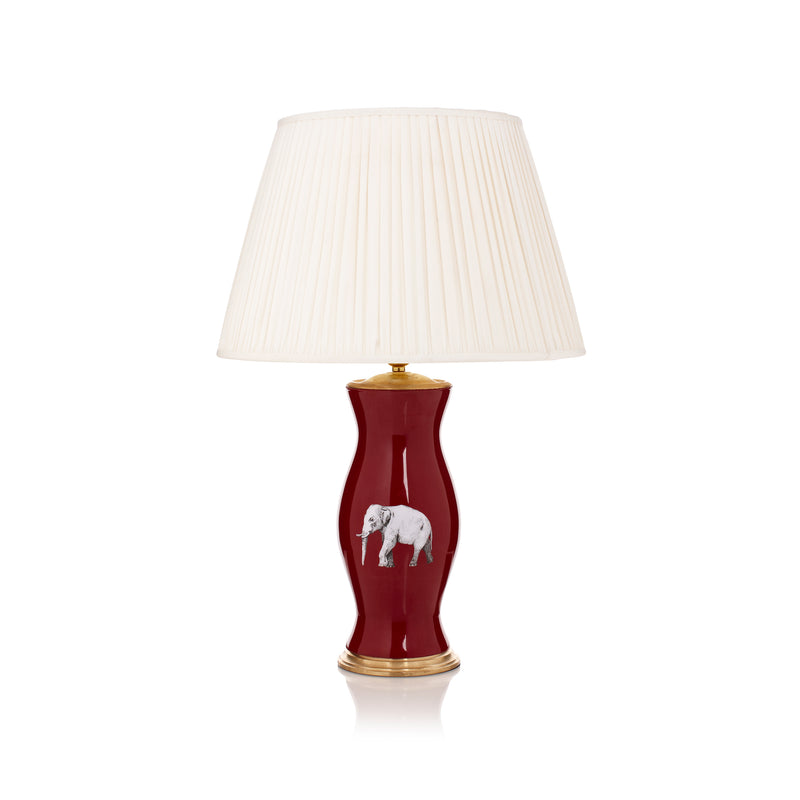 The Elephant in the Room Medium Lamp Base in Red - croftonandhall