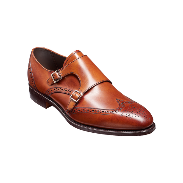 Fleet Monk Shoe in Antique Rosewood Calf - Crofton & Hall