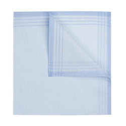Blue Cotton Satin Handkerchief - croftonandhall