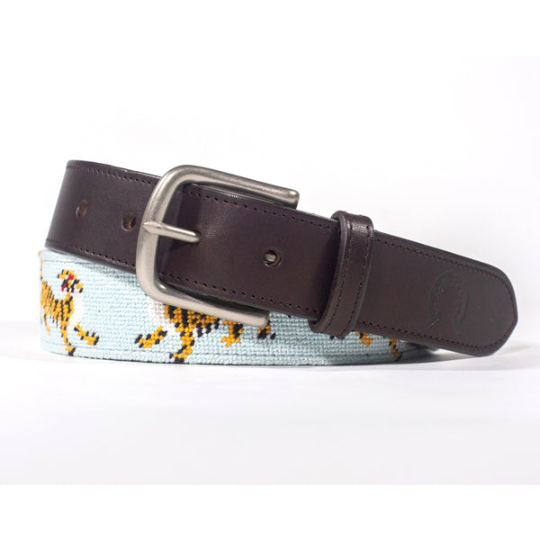 Needlepoint Belt - Tigers - Crofton & Hall