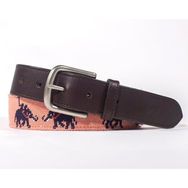 Needlepoint Belt - Elephant Polo - Crofton & Hall