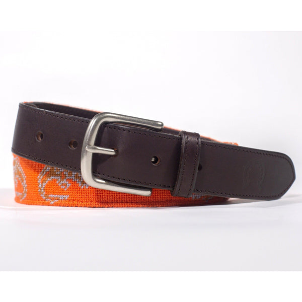 Needlepoint Belt - Crocodiles - Crofton & Hall