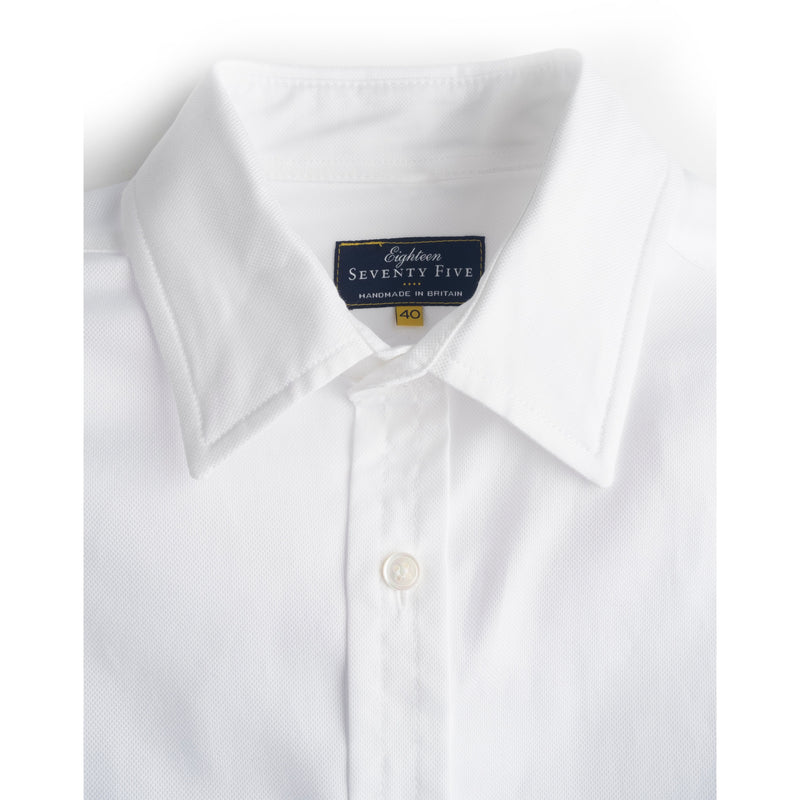 White Cotton Oxford Shirt - croftonandhall