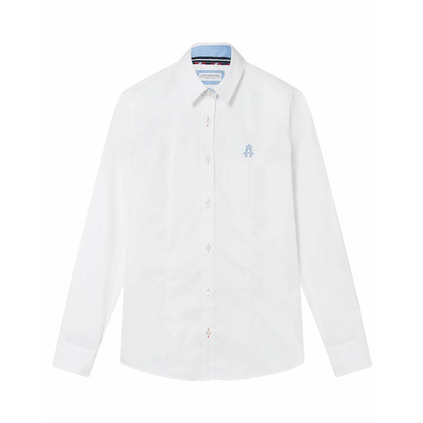 Classic White Oxford Stretch Shirt - croftonandhall