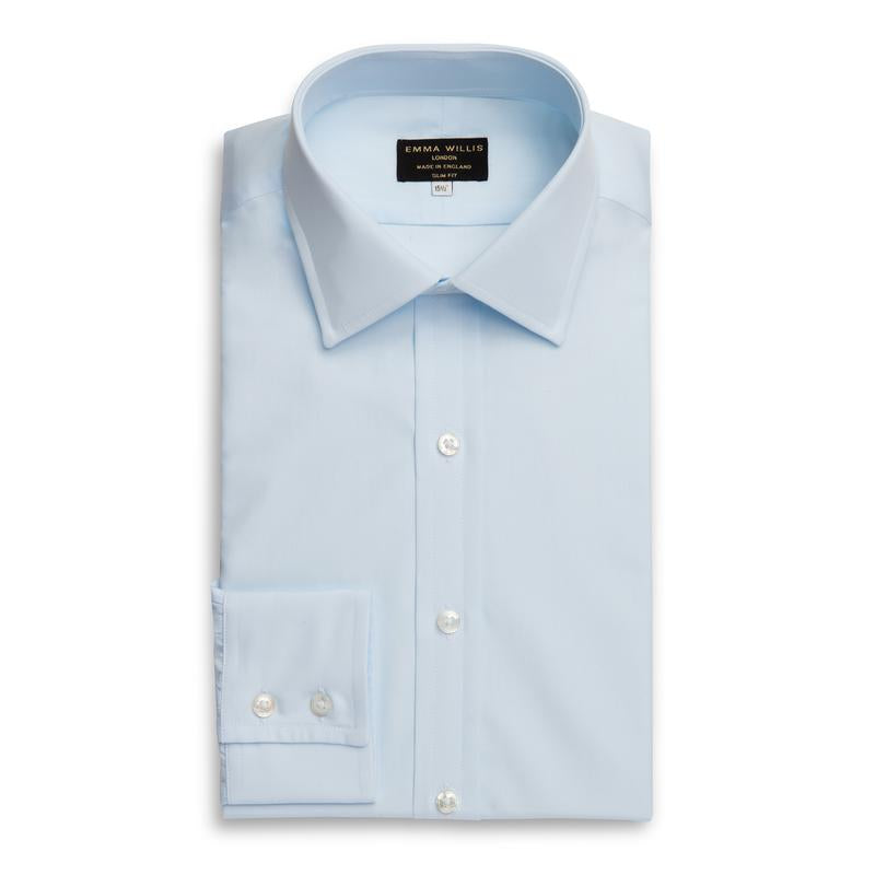 Ice Blue Superior Cotton Shirt - croftonandhall