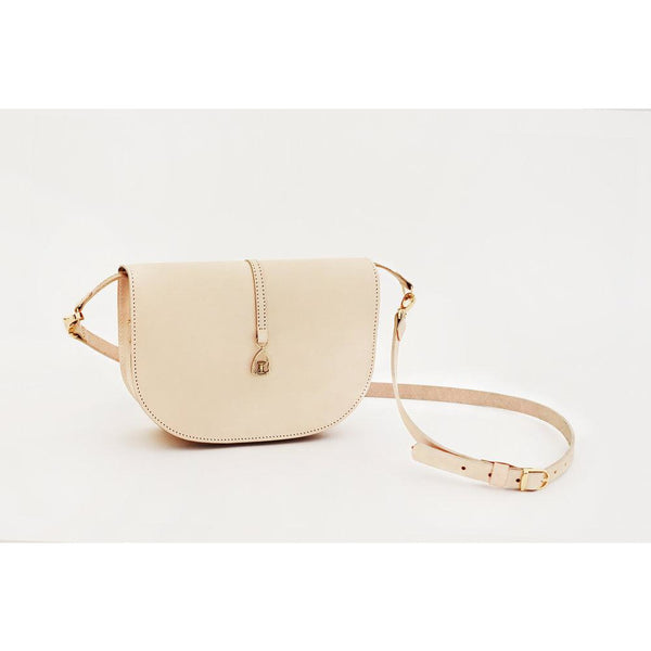 The Silkweaver Handbag in Nude Leather - croftonandhall