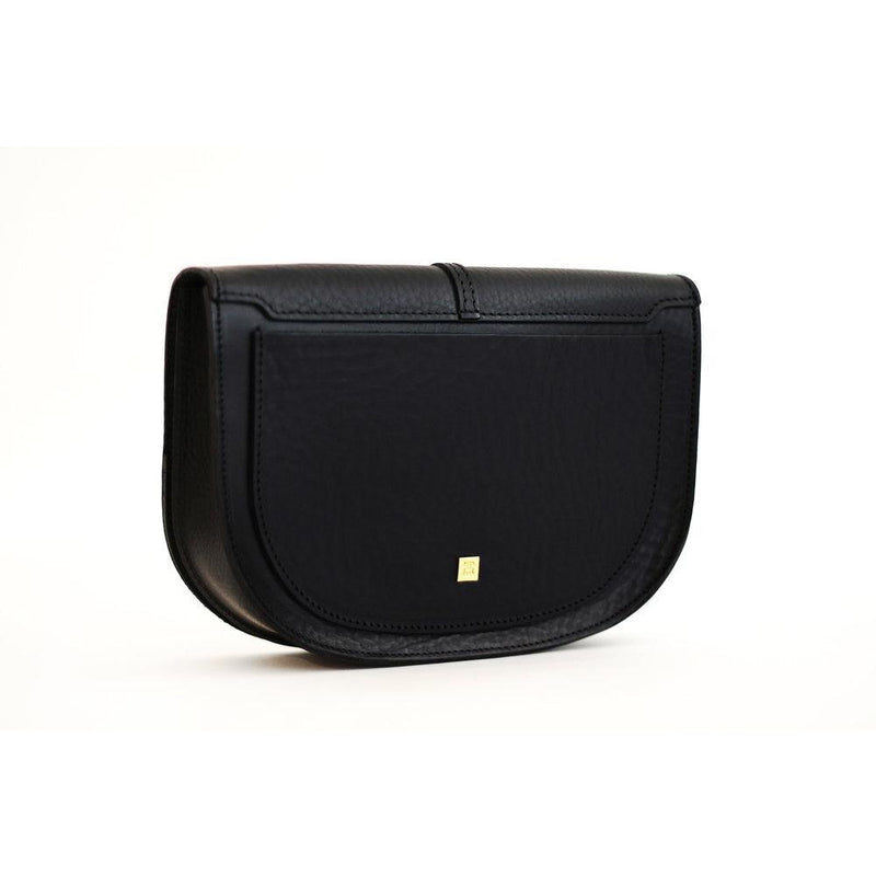 The Pearly Handbag in Black Leather - croftonandhall