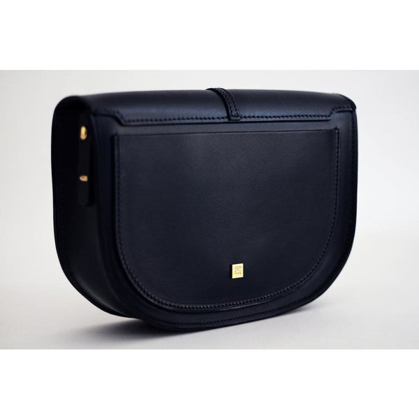 The Mariner Handbag in Navy Leather - croftonandhall