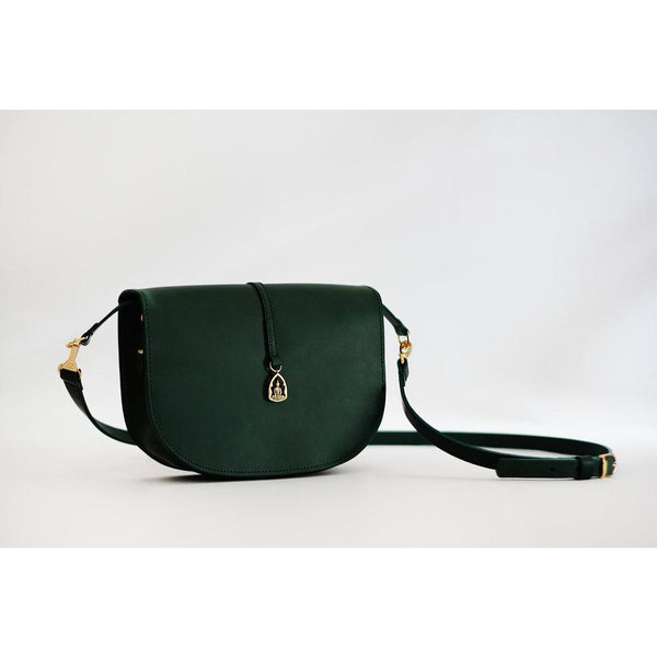 The Buddha Handbag in Green Leather - croftonandhall