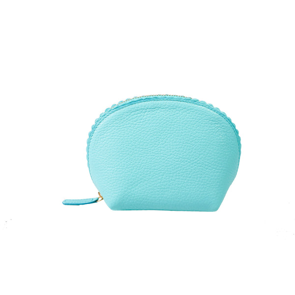 Chelsea Scalloped Edged Cosmetic Case in Pale Blue - croftonandhall