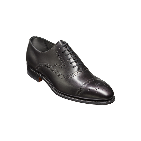Lerwick Brogue in Black Calf Leather - croftonandhall