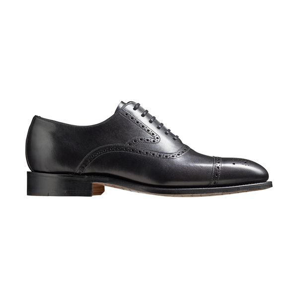 Lerwick Brogue in Black Calf Leather - Crofton & Hall