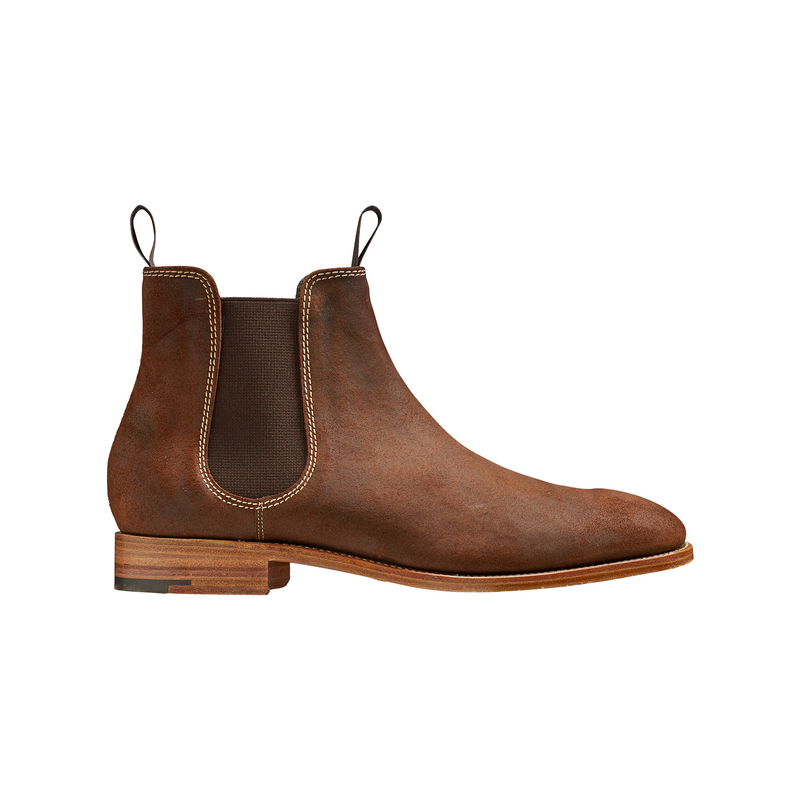 Mansfield Brown Wax Suede Chelsea Boot - croftonandhall