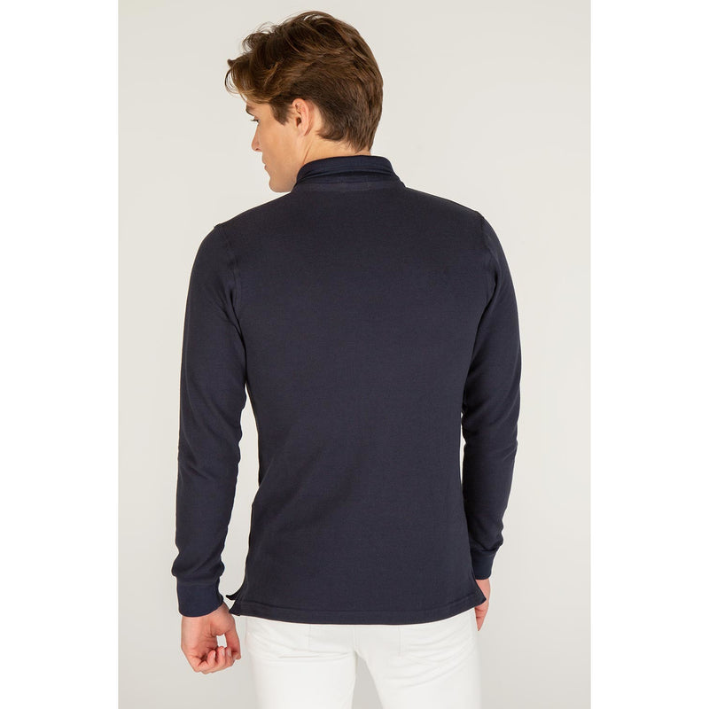 Thomas - Men's Luxury Long Sleeve Polo Shirt
