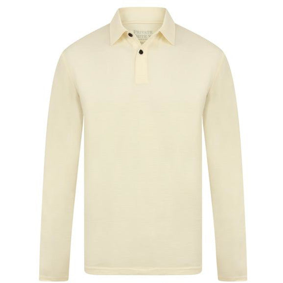 Long Sleeve Merino Polo in Ercu - croftonandhall