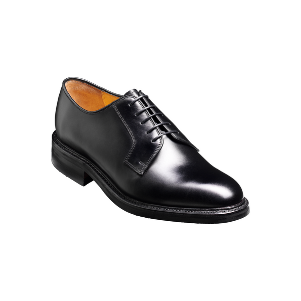 Nairn Derby Shoe in Black Calf - Crofton & Hall