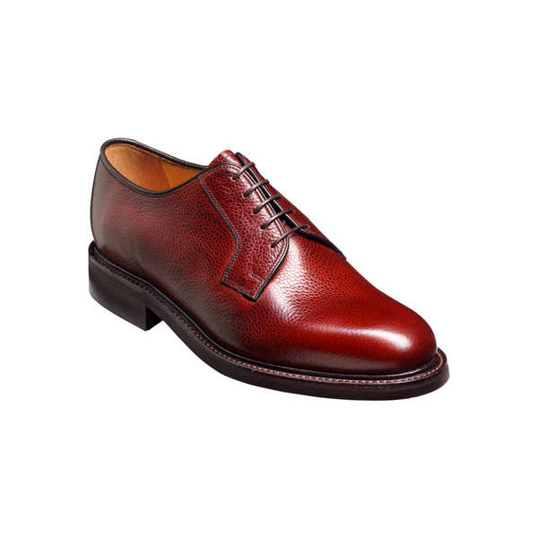Nairn Derby Shoe in Cherry Grain - Crofton & Hall