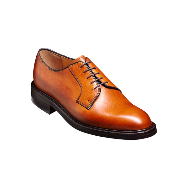 Nairn Derby Shoe in Cedar Grain - Crofton & Hall