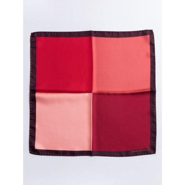 Red Silk Pocket Square - croftonandhall