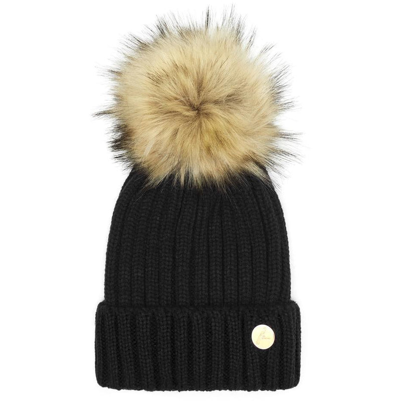 The Meribel Pom Hat in Black - croftonandhall