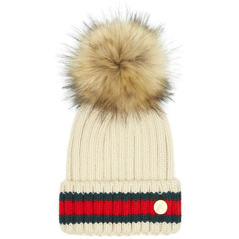 The Kloster Pom Hat in Cream - croftonandhall