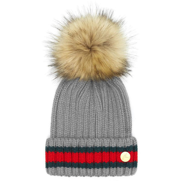 The Kloster Pom Hat in Light Grey - Crofton & Hall