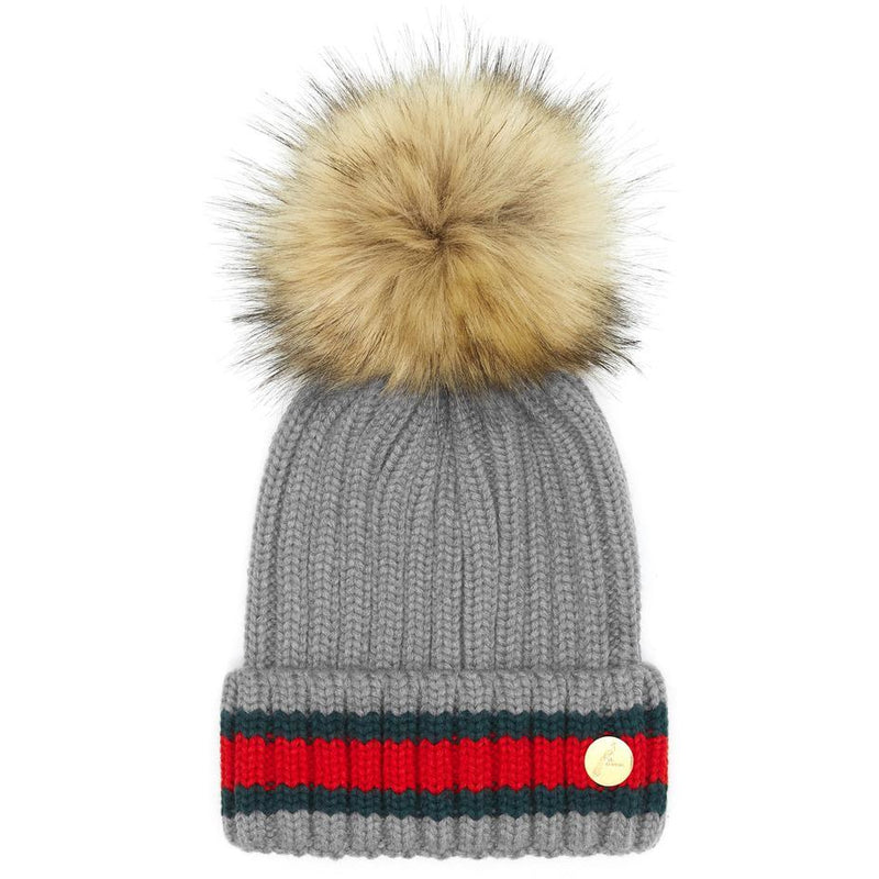 The Kloster Pom Hat in Light Grey - croftonandhall