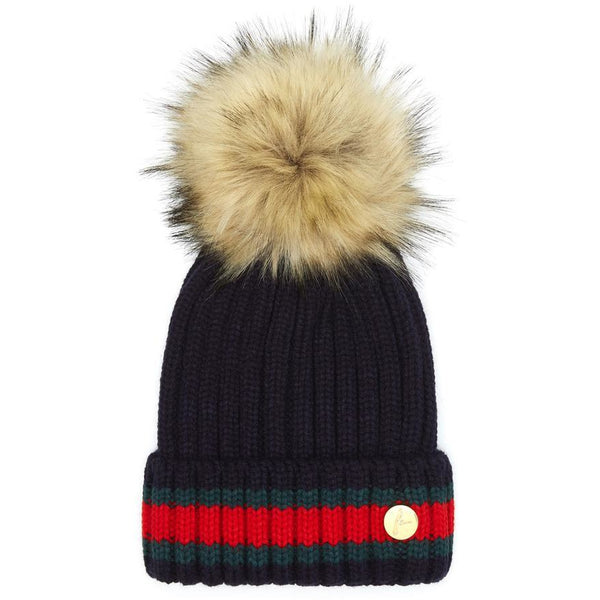 The Kloster Pom Hat in Navy - Crofton & Hall