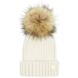 The Meribel Pom Hat in Cream - croftonandhall