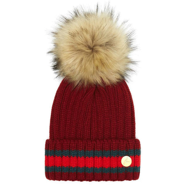 The Kloster Pom Hat in Burgundy - Crofton & Hall