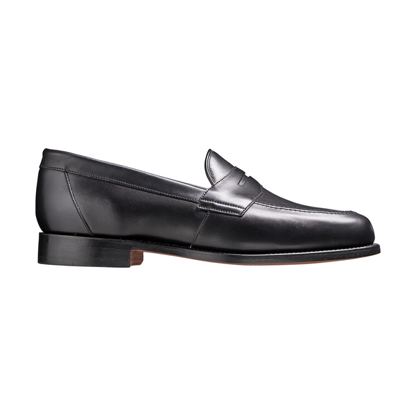 Portsmouth Loafer in Black Calf Leather - croftonandhall