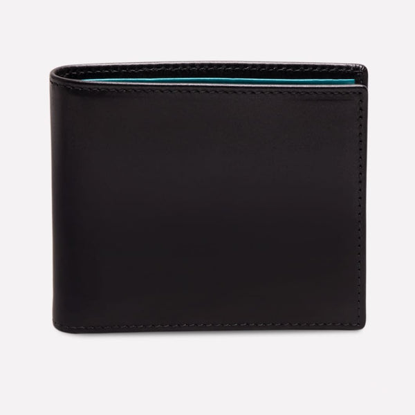 Sterling Billfold Wallet in Black and Purple with 6 c/c - croftonandhall