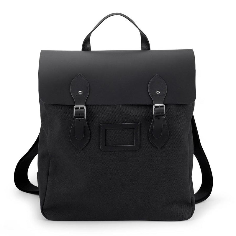 Black Steamer Backpack in Black - croftonandhall