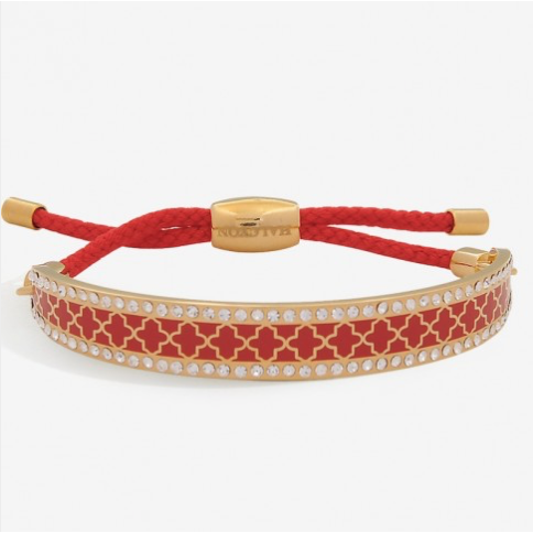 Agama Sparkle Red & Gold Friendship Bangle | Halcyon Days - croftonandhall