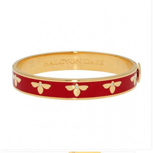 Bee Red & Gold Bangle - croftonandhall