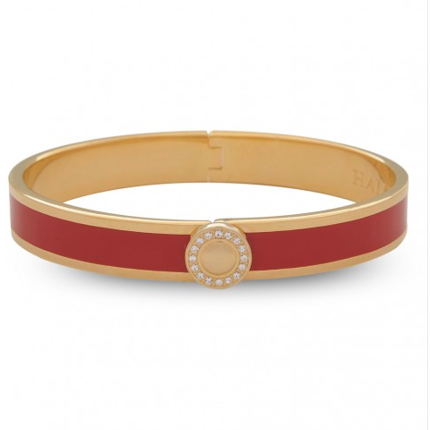 Sparkle Button Red & Gold Bangle | Halcyon Days - croftonandhall
