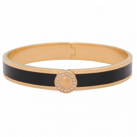 Sparkle Button Black & Gold Bangle | Halcyon Days - croftonandhall