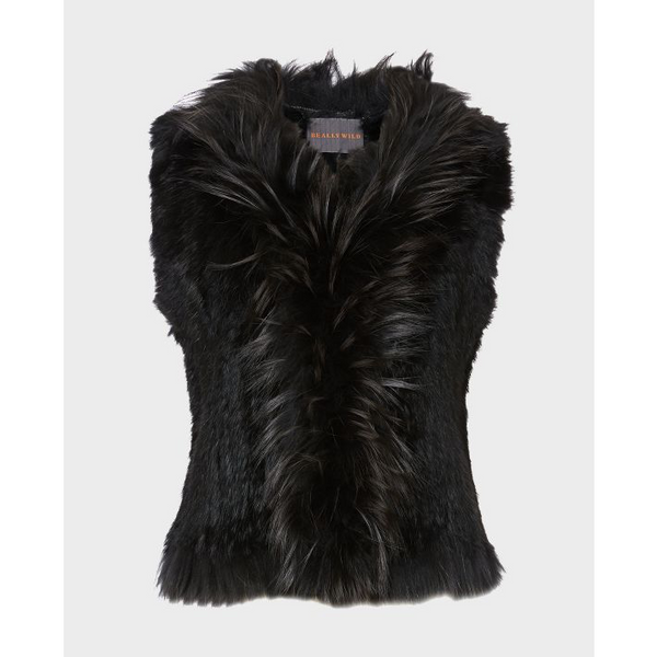 Fur Gilet in Black - croftonandhall