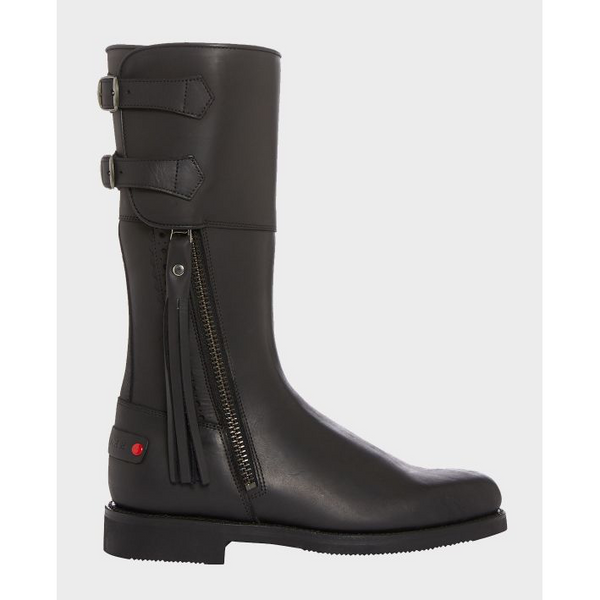 Biker Boots in Black Leather - Crofton & Hall