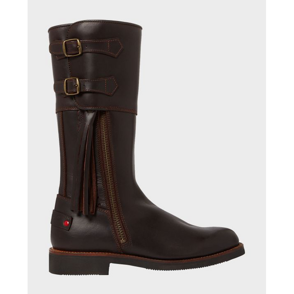 Biker Boots in Brown Leather - Crofton & Hall