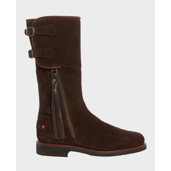 Biker Boots in Brown Suede - Crofton & Hall