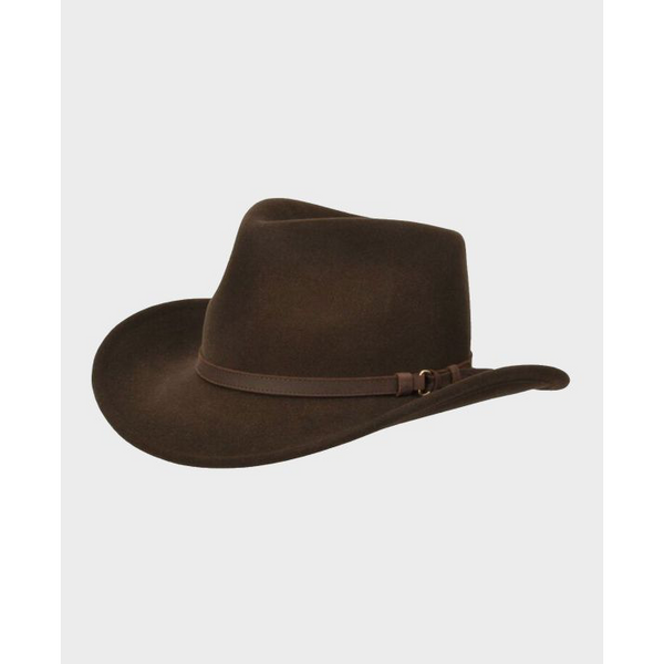 Outback Hat in Brown - croftonandhall