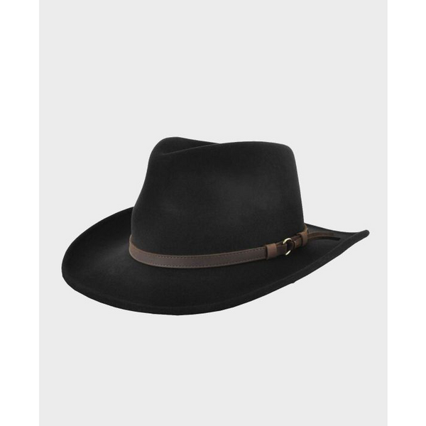 Outback Hat in Black - croftonandhall