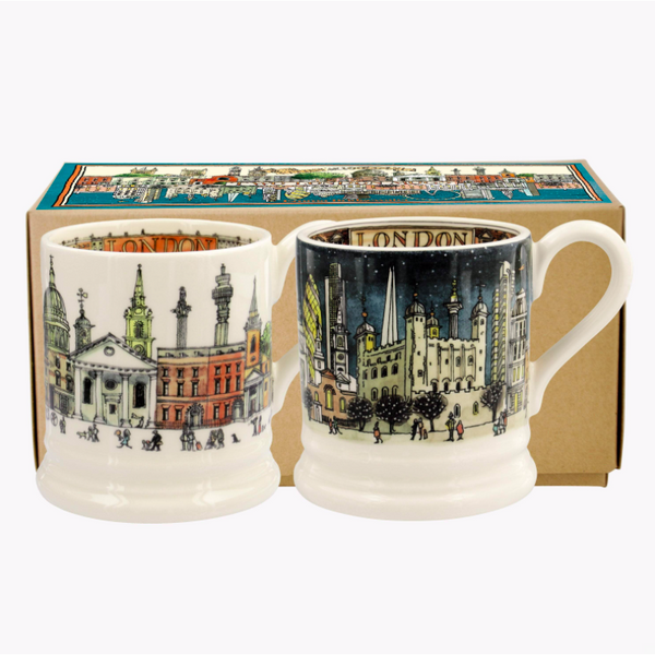 Cities of Dreams London Set of 2 1/2 Pint Mugs - Crofton & Hall