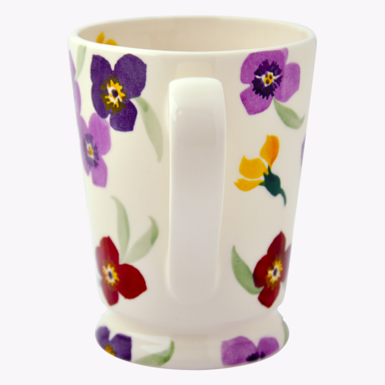 Purple Wallflower Cocoa Mug - croftonandhall