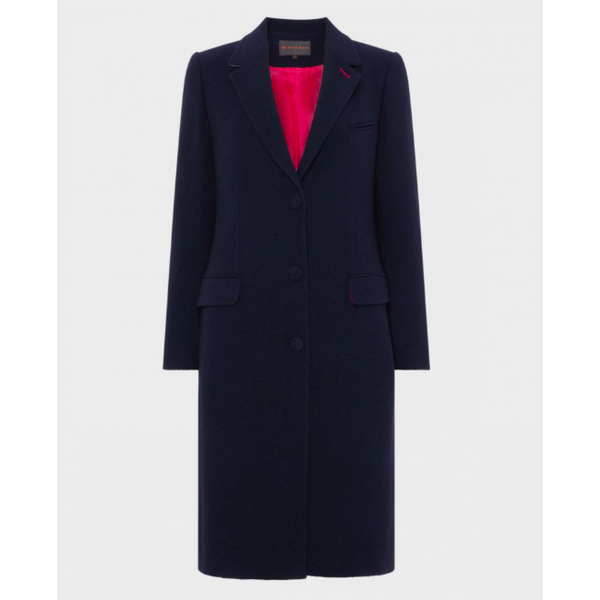 Chesham Coat | Navy Wool Tweed - Crofton & Hall