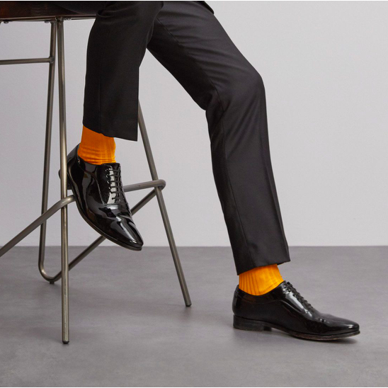 East India Saffron Yellow Socks - croftonandhall