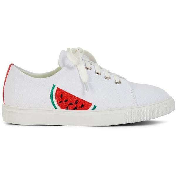 Shoreditch Watermelon White Trainer - croftonandhall