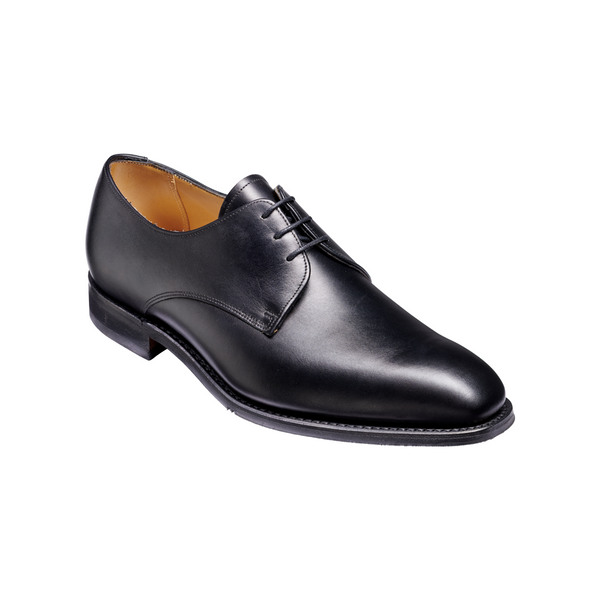 St Austell Derby Shoe in Black Calf - croftonandhall