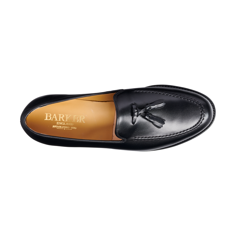 Studland Loafer in Black Calf - croftonandhall